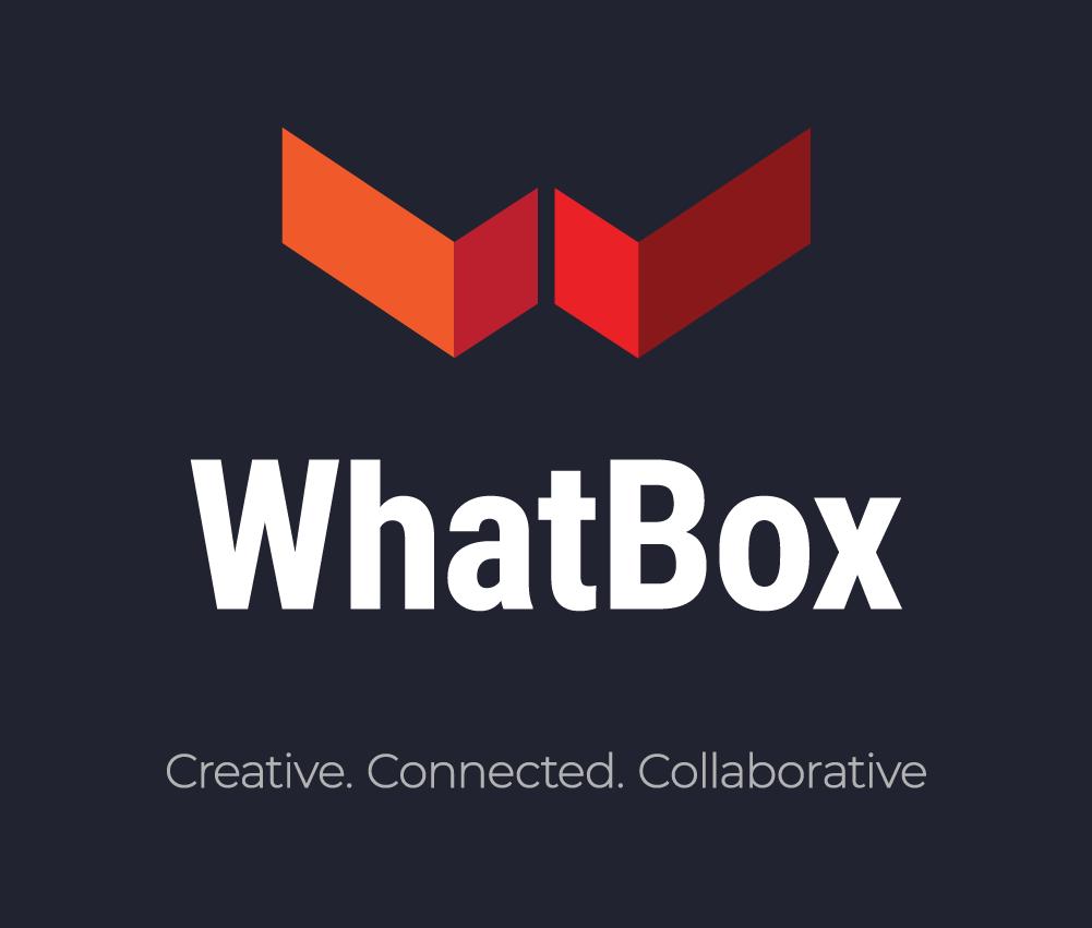 WhatBox Logo Creative Connected Collaborative